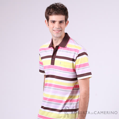 ROBERTA諾貝達 台灣製 吸濕排汗 光滑柔軟 PIMA棉短袖POLO棉衫 黃色