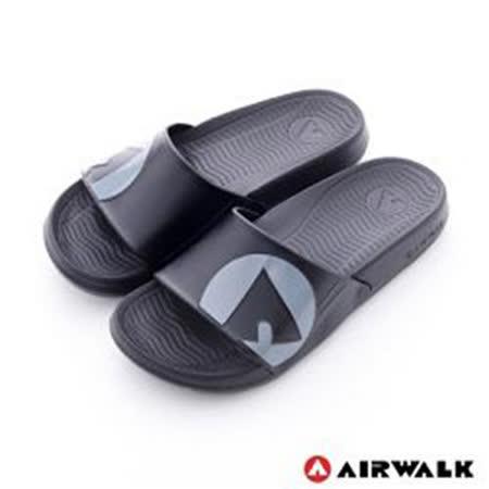AIRWALK(男) - 輕盈舒適中性EVA休閒多功能室內外拖鞋 - 黑灰