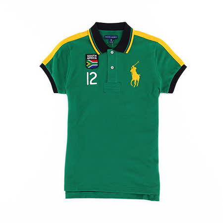 Ralph Lauren 大馬南非12號透氣女POLO衫(綠)