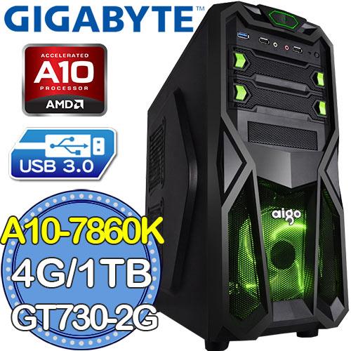 技嘉A88X平台~無垠大地~AMD A10四核 GT730~2G獨顯 1TB燒錄電腦