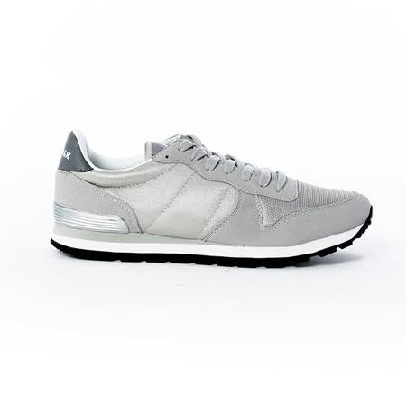 AIRWALK(男) -美式復古異材拼接休閒慢跑鞋 - 灰