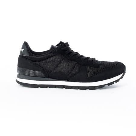 AIRWALK(男) -美式復古異材拼接休閒慢跑鞋 - 黑