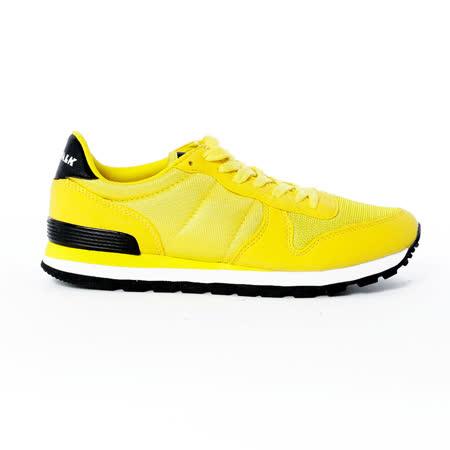 AIRWALK(男) -美式復古異材拼接休閒慢跑鞋 - 黃