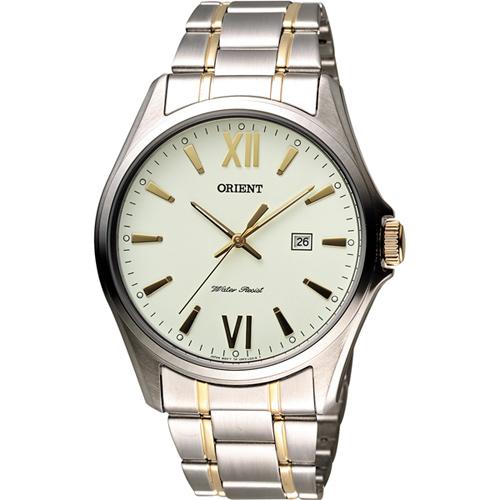ORIENT 東方錶 羅馬紳士石英錶~雙色版41mm FUNF2004W