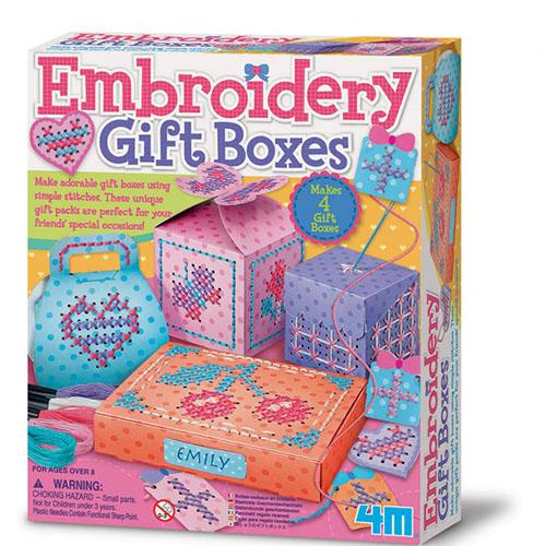 ^( 車^)~4M美勞創作~刺繡 盒 Embroidery Gift Boxes
