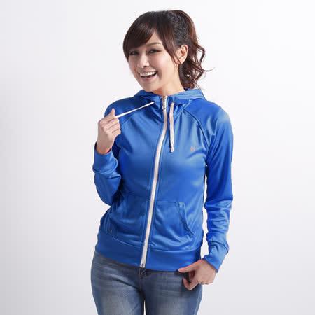 【遊遍天下】 台灣製女款修身吸濕排汗外套 (寶藍 L-2L) (品特)