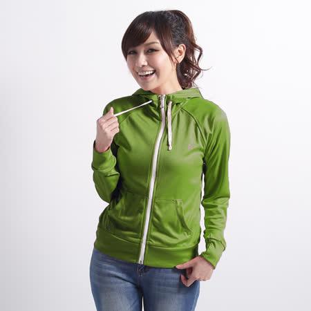 【遊遍天下】 台灣製女款修身吸濕排汗外套 (草綠M-2L) (品特)
