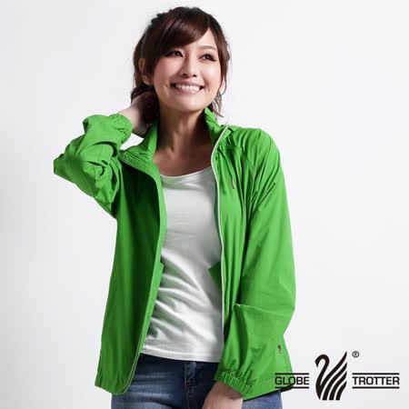 【遊遍天下】台灣製中性款防風防曬吸排機能外套 ( 草綠M-L) (品特)贈收納袋