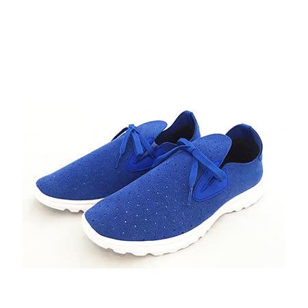 AIRWALK(男) -輕盈透氣洞洞運動休閒鞋-藍