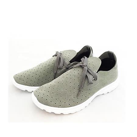 AIRWALK(女) -輕盈透氣洞洞運動休閒鞋-灰