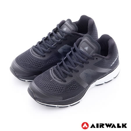 AIRWALK(女) - 穩走太空透氣記憶鞋墊慢跑鞋 - 黑