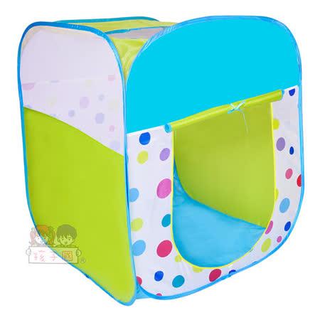 【孩子國】繽紛四角帳蓬摺疊球屋+100球(綠)