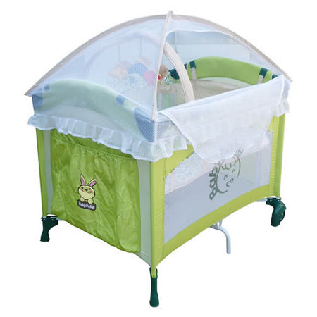 【Babybabe】拱型遊戲床(半配款)~綠色