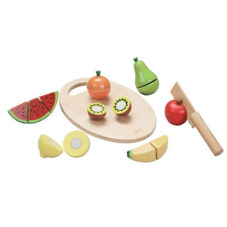 Classic world 德國經典木玩 客來喜 水果切切樂 木製扮家家酒玩具