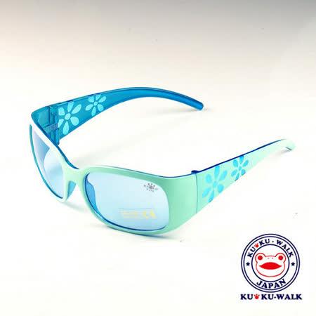 日本Ku Ku Walk兒童太陽眼鏡-蘋果綠印花款