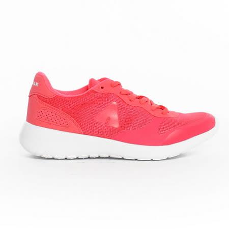 AIRWALK(女) - 運動風潮透氣輕盈休閒慢跑鞋 -橘紅