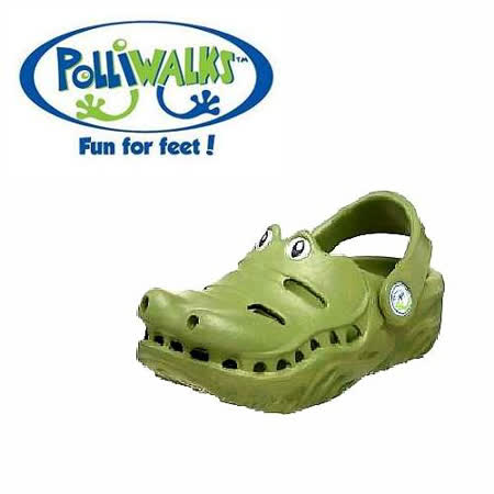 Polliwalks童鞋-鱷魚(橄欖綠)