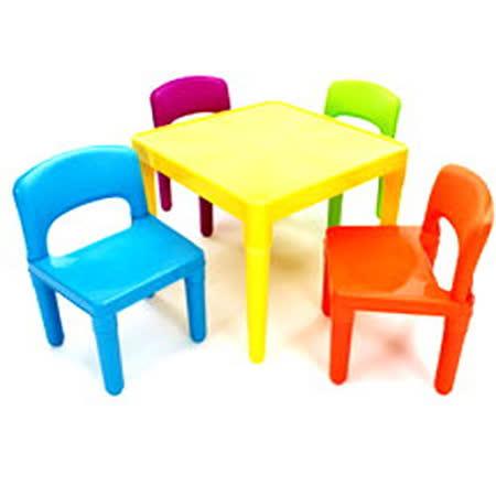 《孩子國》寶貝繽紛一桌四椅組