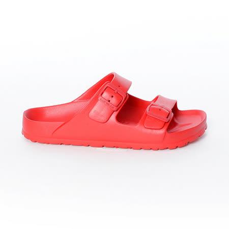 AIRWALK- EVA中性雙扣環羅馬休閒拖鞋 - 紅