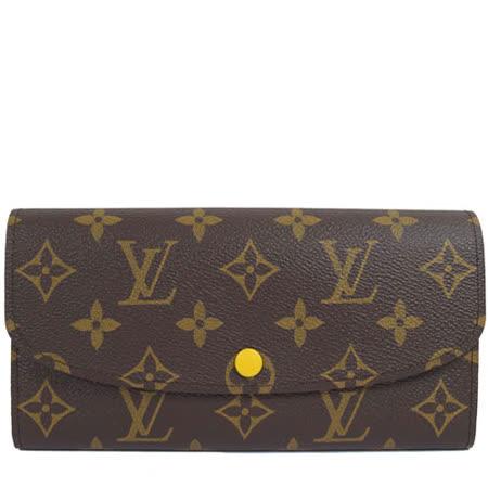 Louis Vuitton LV M61535 EMILIE 新款經典花紋扣式零錢長夾_預購