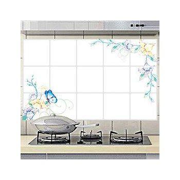 窩自在 廚房清潔高檔鋁箔防油貼紙防油牆貼-雍容愜意 (45X75)