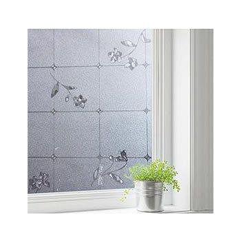 窩自在 居家無膠靜電玻璃貼膜 防曬貼紙-拼圖小花 1捲/45*200CM