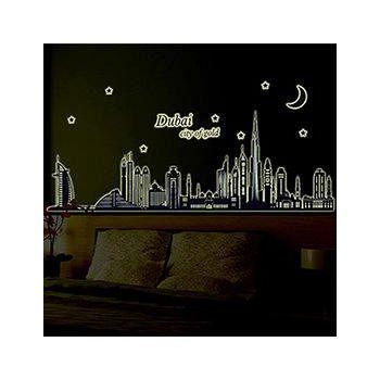 窩自在 DIY無痕創意牆貼壁貼-杜拜夜景_ABQ9616 (60X90)
