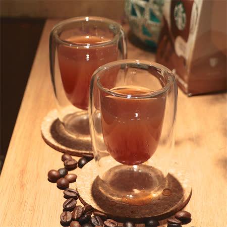 Artist精選 耐熱玻璃ESPRESSO雙層咖啡杯100ml-2入