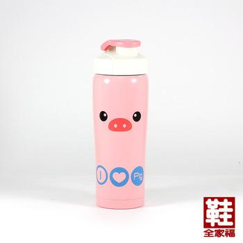 PAOWIN 動物保溫保冷杯 嘟嘟豬 350ml 鞋全家福