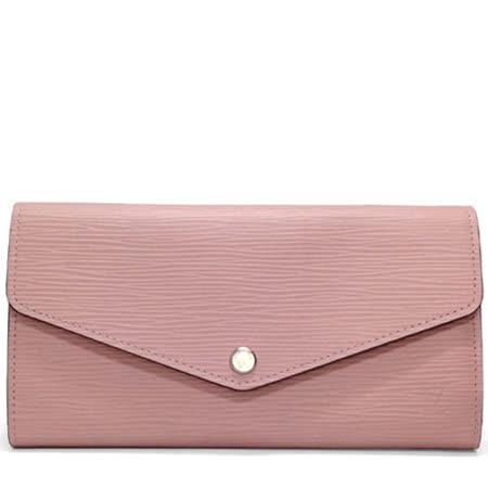 Louis Vuitton LV M61216 Sarah EPI水波紋皮革發財包扣式長夾.粉紅_預購
