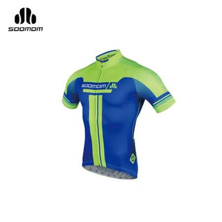 (男) SOOMOM 速盟 佐羅短車衣-單車 自行車 螢光綠寶藍