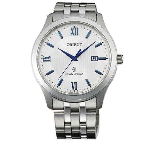 東方錶 ORIENT 風情羅馬簡約不銹鋼帶男用腕錶~40mmFUNE7008W