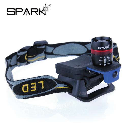 SPARK 25W亮度頭燈+帽沿燈兩用_HL-25W088