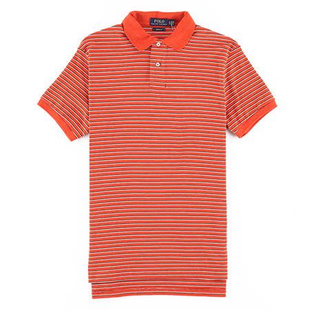 【開箱心得分享】gohappy線上購物Ralph Lauren 棉質純條紋POLO衫(橘/合身版)效果好嗎忠孝 館 sogo