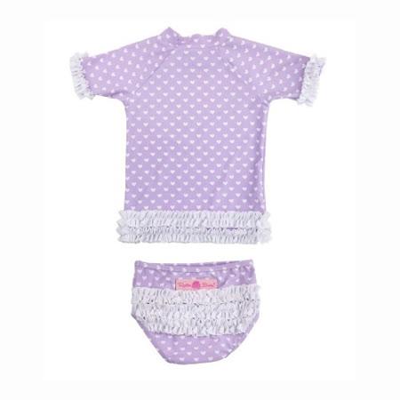 美國 RuffleButts 小女童比基尼泳裝_紫色白點點(RBSW07-12)