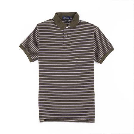 【真心勸敗】gohappy快樂購物網Ralph Lauren 棉質純條紋POLO衫(合身版/墨綠)價格威 秀 大 遠 百 高雄