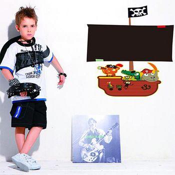 窩自在 DIY無痕創意牆貼/壁貼-海盜船黑板(不附粉筆)_AY630 (60X45)