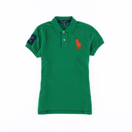 Ralph Lauren 大馬素色女POLO衫(綠)
