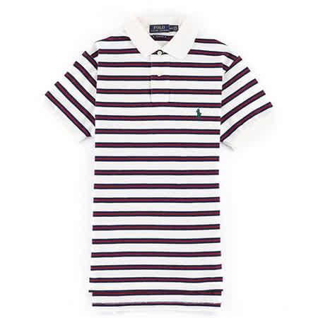 【勸敗】gohappy 購物網Ralph Lauren 小馬夾心條紋男POLO衫(合身版/白黑)去哪買快樂 購