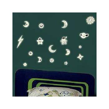 窩自在 新款夜光造型壁貼-微笑小星星_Y0014(20X40) (20X40)