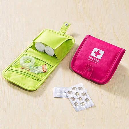 【旅遊首選、旅行用品】便攜隨身急救包子母扣收納包 迷你收納 醫藥包
