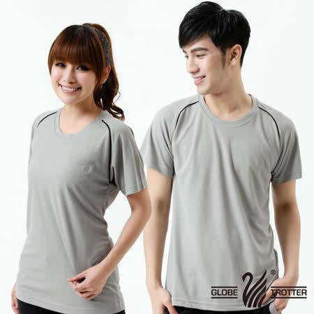 【遊遍天下】台灣製中性款涼感圓領吸濕排汗機能衫(灰色S-3L)(品特)