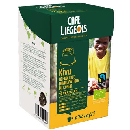 Liegeois 比利時 烈日咖啡膠囊--基伍 Kivu (有機、公平貿易) Nespresso機型可用