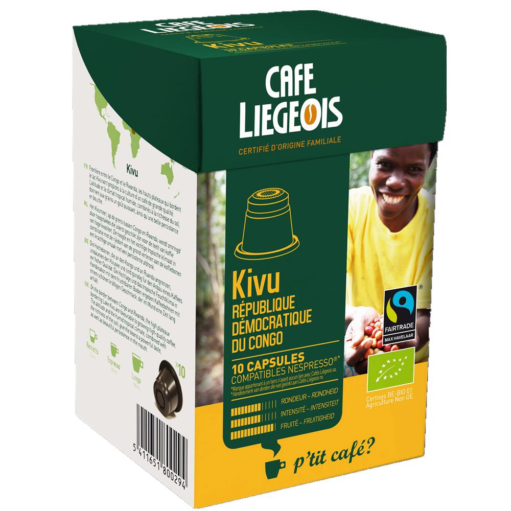 Liegeois 比利時 烈日咖啡膠囊~~基伍 Kivu ^(有機、公平貿易^) Nesp