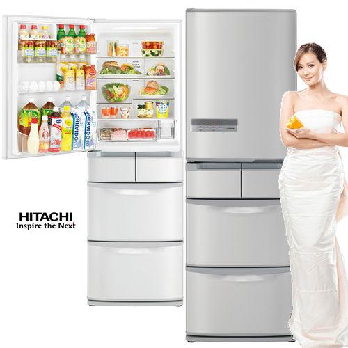 HITACHI日立420公升超一級節能變頻五門~左開~冰箱RS42EMJL^(SH星燦不鏽