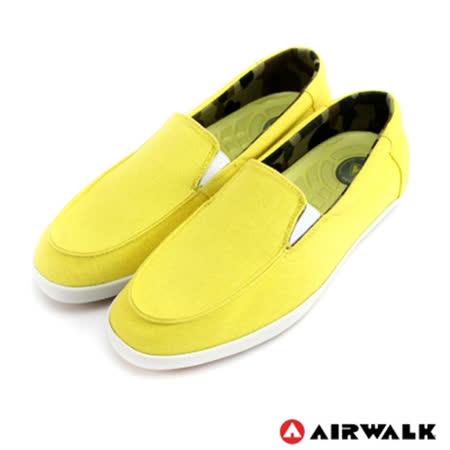 AIRWALK(女) - 立線悠活系列 直套帆布鞋 - 輕便黃