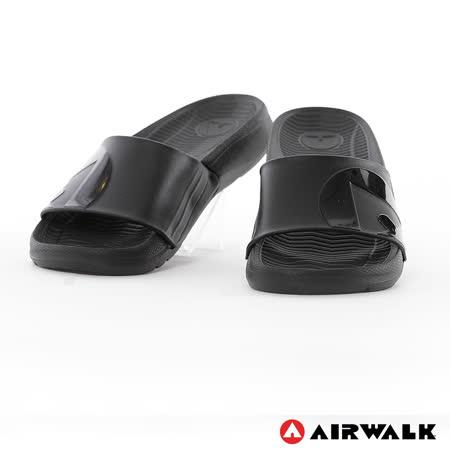 AIRWALK(男) - 輕盈舒適中性EVA休閒多功能室內外拖鞋 - 全黑
