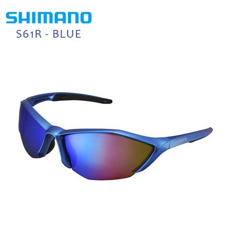 愛 買 復興 店SHIMANO S61R 運動太陽眼鏡 金屬藍 / 黑