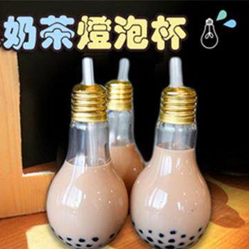 窩自在 創意燈泡玻璃杯飲料杯/燈泡奶茶/燈泡杯-400ml (18.5X9)