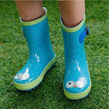 窩自在 韓國原創小眼睛兒童雨鞋-綠色 (S/M/L)